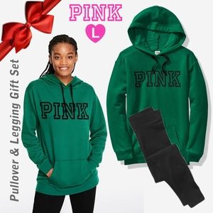 PINK VICTORIA'S SECRET Green Pullover and Legging